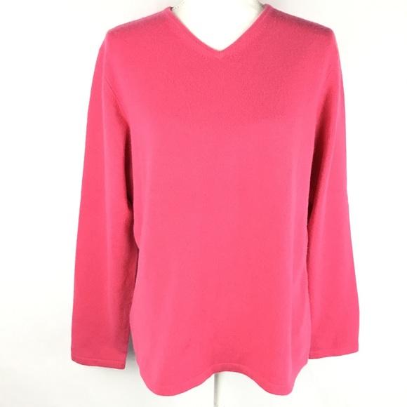 Talbots Sweaters Womens Hot Pink Cashmere Sweater Sz Xl Poshmark